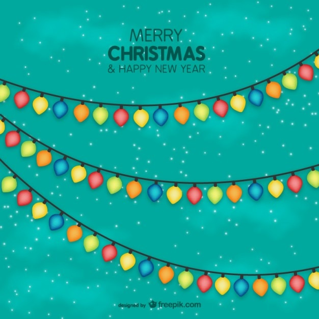 Colorful Christmas Lights Vector Vector