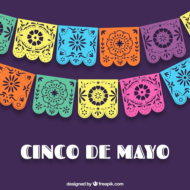 Colorful Cinco De Mayo Background Free Vector