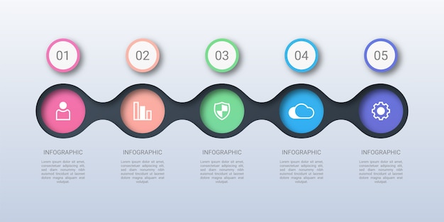 Colorful circle business infographic template Premium Vector