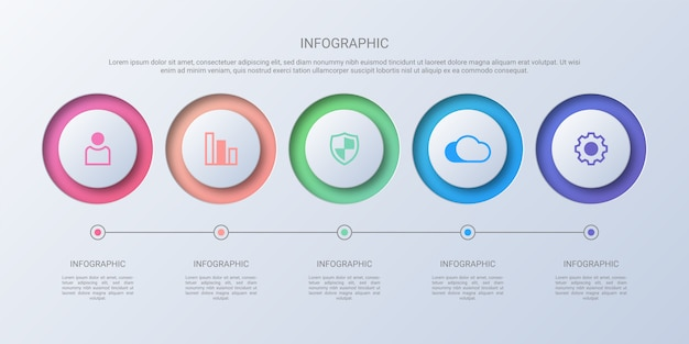 Colorful circle business infographic Premium Vector