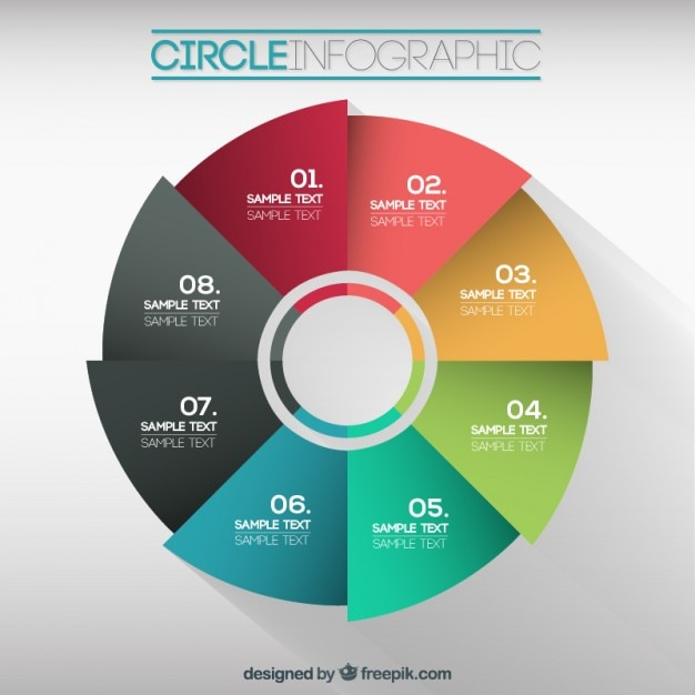 colorful circle infographic vector free download. Black Bedroom Furniture Sets. Home Design Ideas