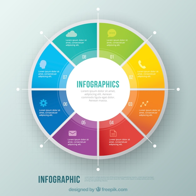 colorful circle infographic vector