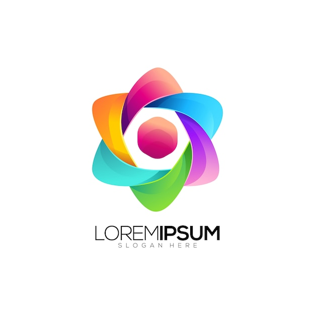 Colorful Circlelogo: Colorful Circle Logo Jasa Desain
