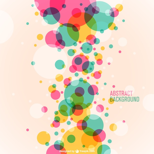 Colorful Circles Background Vector Free Download