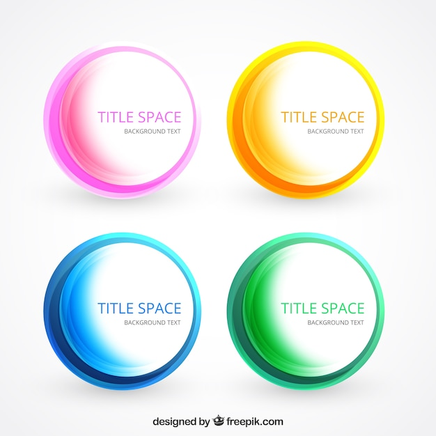 colorful circles template vector free download