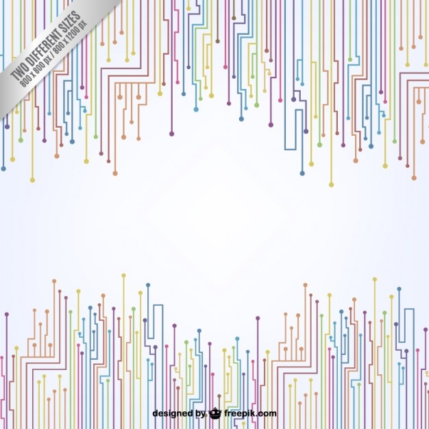 Colorful circuit board background Premium Vector