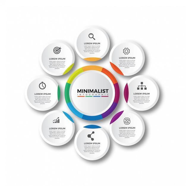 Colorful circular infographics template Premium Vector