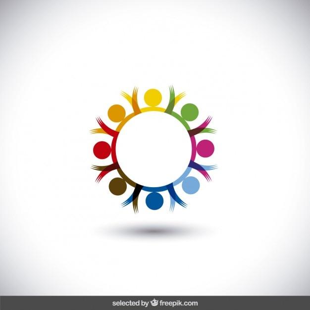 Colorful circular logo vector free download Free eps editor