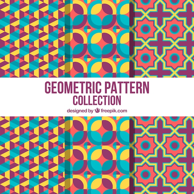Colorful collection of fun geometric patterns