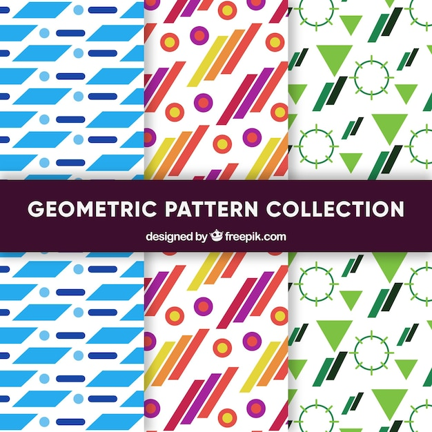 Colorful collection of geometric patterns