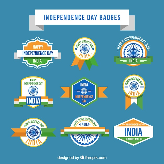 Colorful collection of indian badges