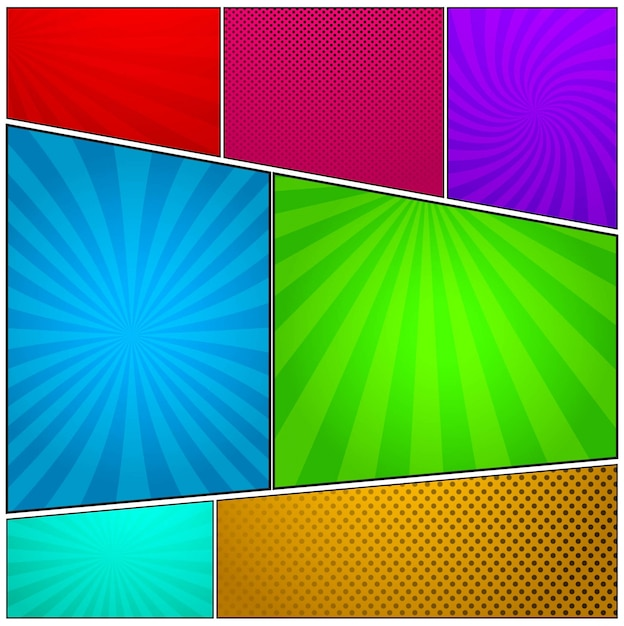colorful comic background vector free download