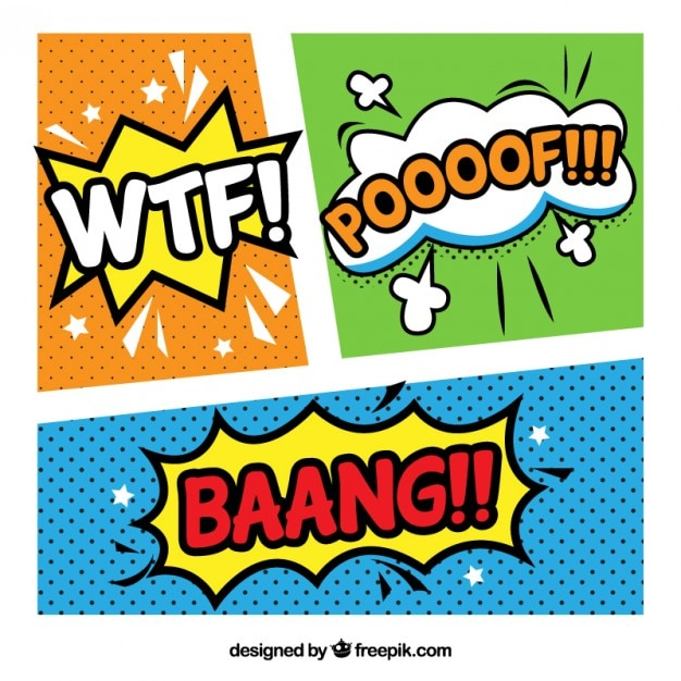 Colorful Comic Template Vector | Free Download