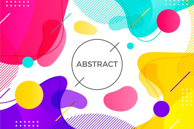 Colorful composition abstract background Free Vector