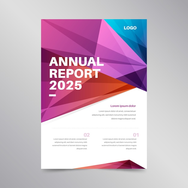 Colorful concept for annual report template Free Vector