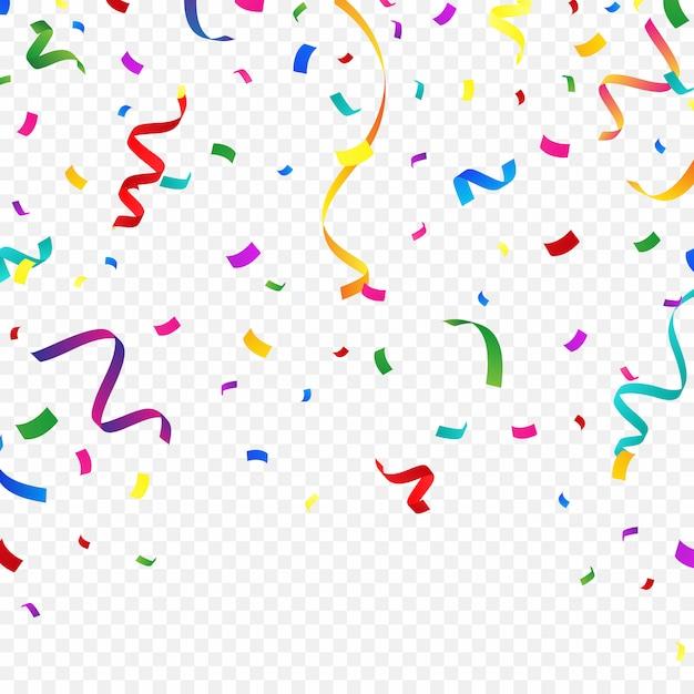 Colorful confetti background for festive celebrations Premium Vector