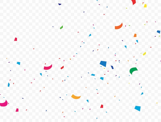 The colorful confetti background that is falling vector illustration Premium Vector