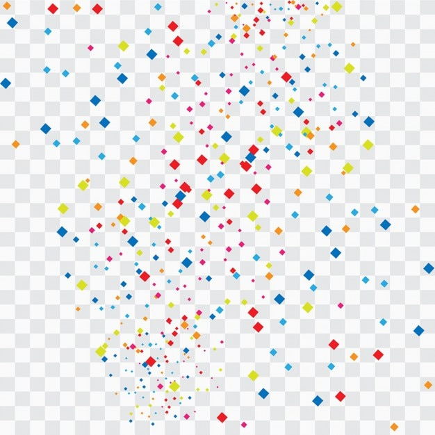 colorful confetti background vector | free download