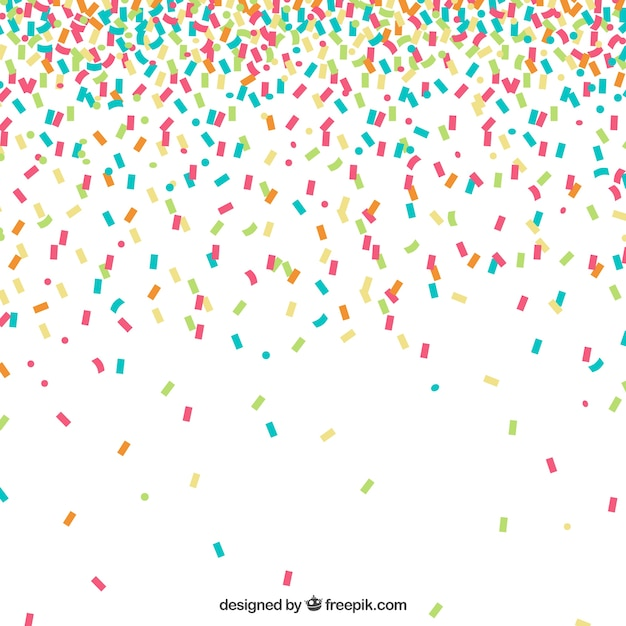 colorful confetti background vector free download