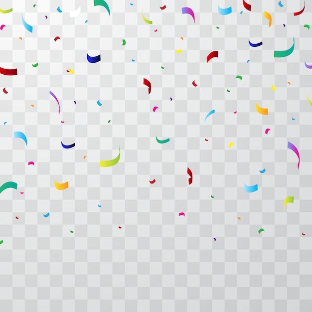 Colorful confetti background Premium Vector