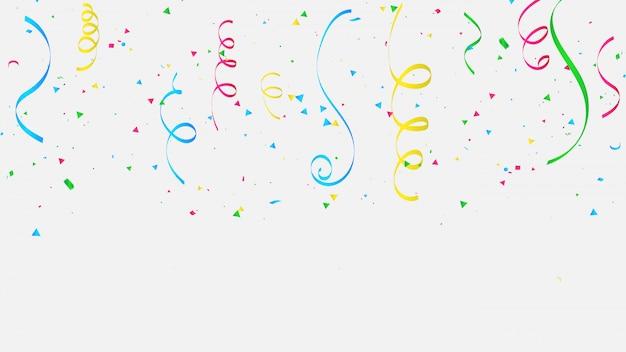 Colorful confetti celebration. Premium Vector