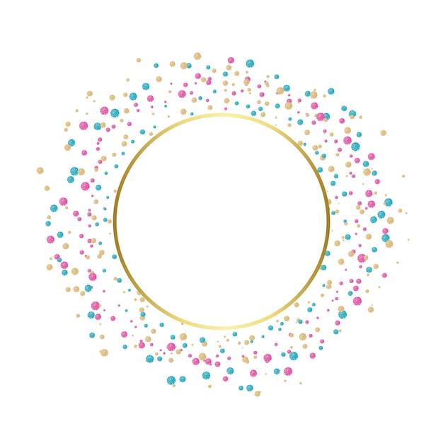 Colorful confetti celebratory design Free Vector