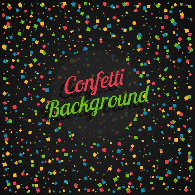 colorful confetti in black background vector free download