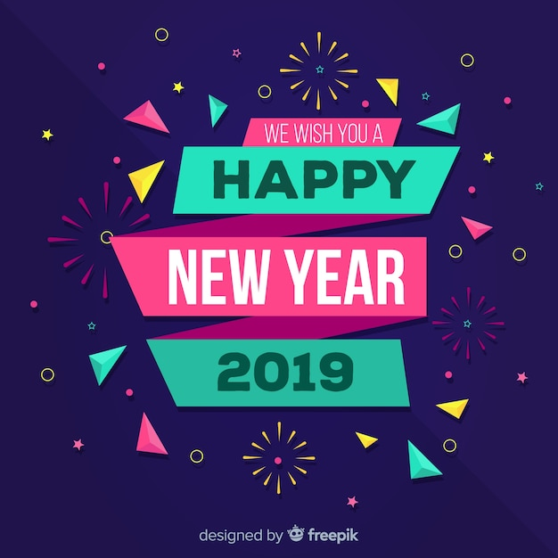 colorful confetti new year background free vector