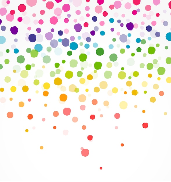 Colorful confetti on round shape Premium Vector