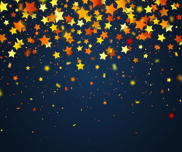 Colorful confetti of stars. holiday background Premium Vector