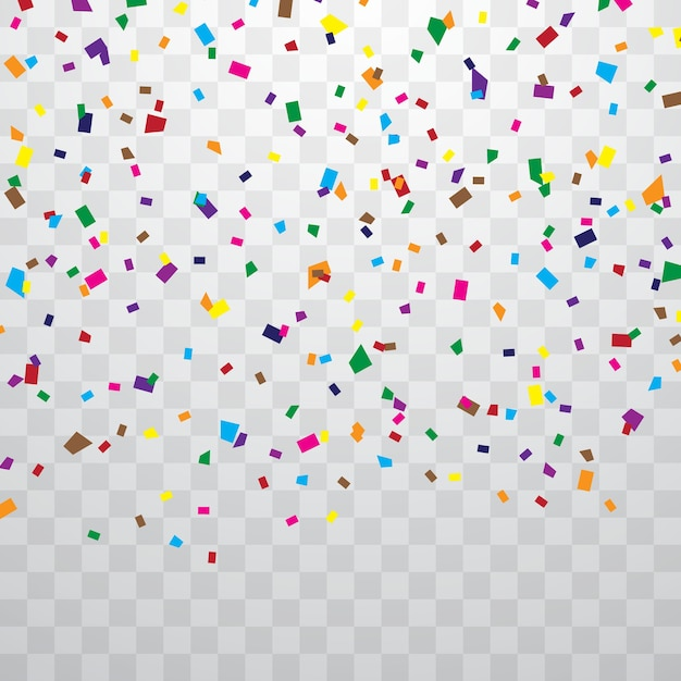 Colorful confetti Premium Vector