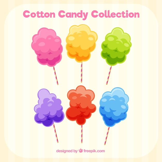 Colorful cotton candy collection