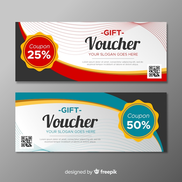 Colorful coupon template with flat design vector free download colorful coupon template with flat design free vector flashek Images