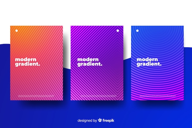Colorful cover collection Free Vector