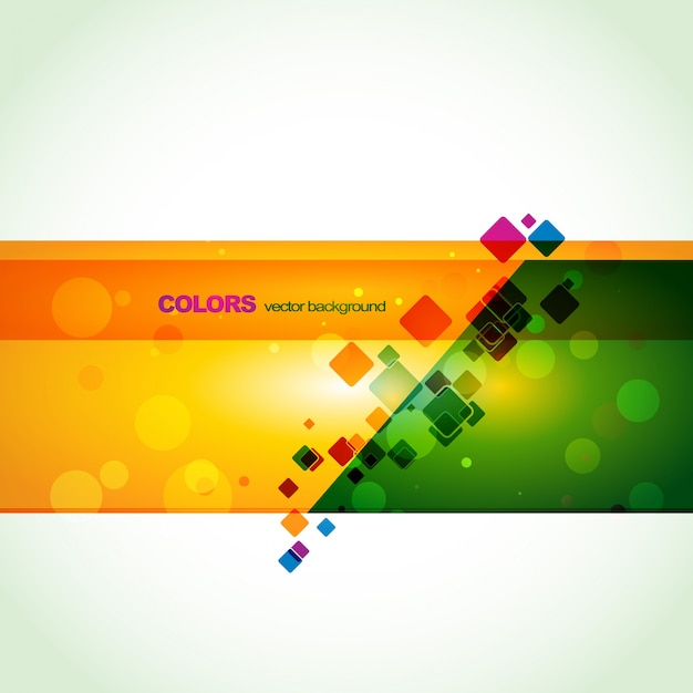 colorful creative banner design vector
