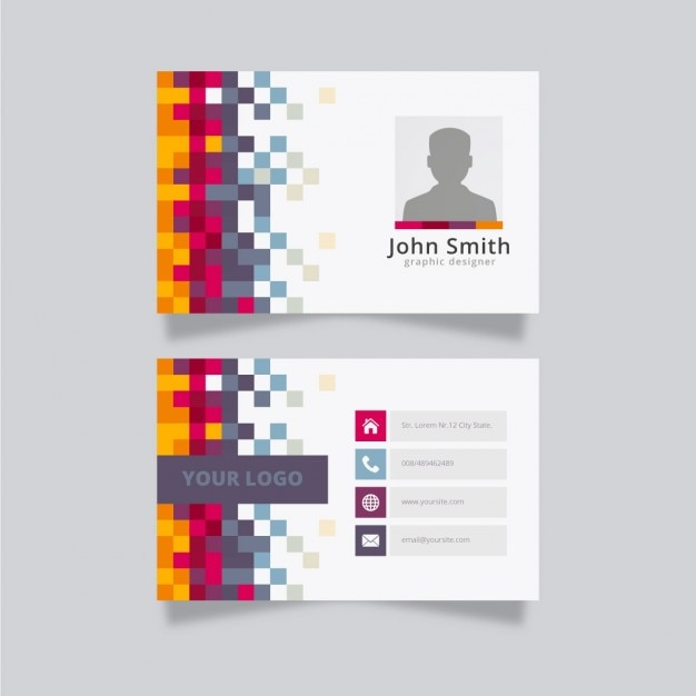 Colorful creative business card template vector free download colorful creative business card template free vector wajeb Image collections
