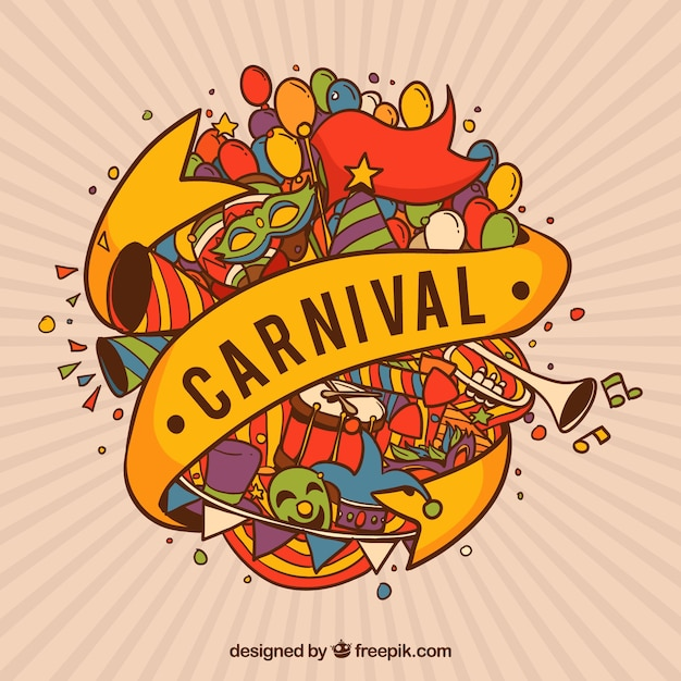 Colorful creative carnival background Free Vector