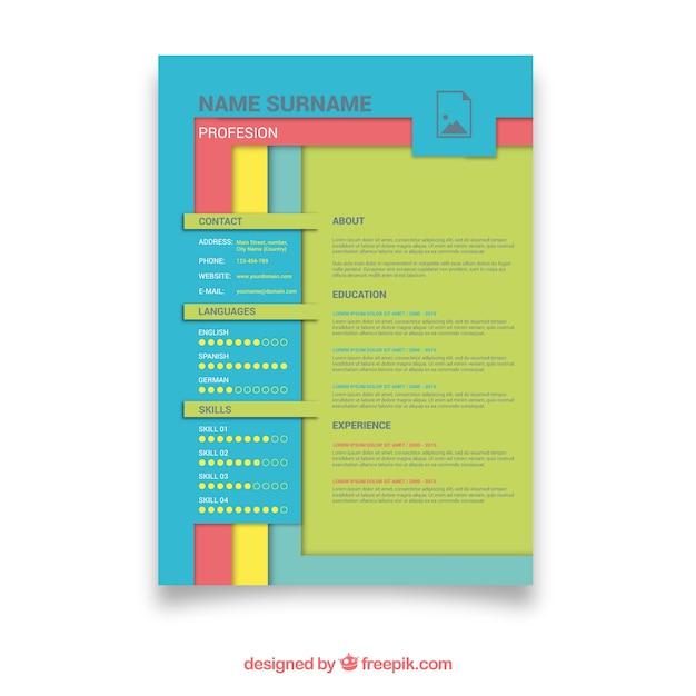 Красочный шаблон учебного плана с забавным стилем Бесплатные векторы