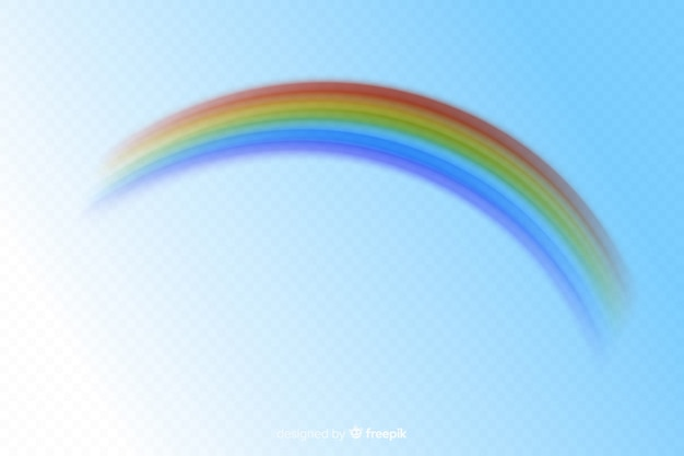 Colorful decorative rainbow realistic style Free Vector