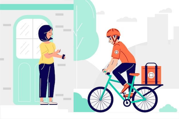 Colorful delivery concept illustrated Free Vector