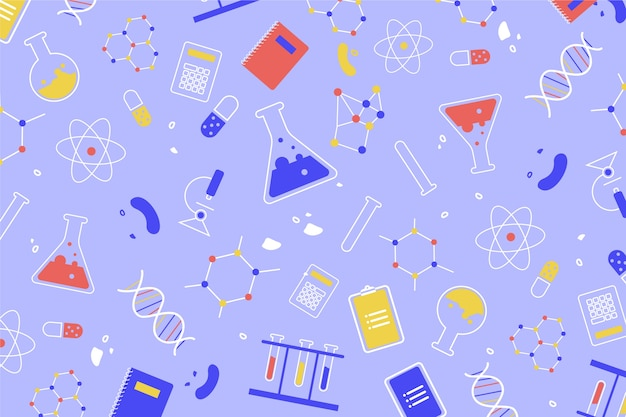 Colorful design science education Free Vector