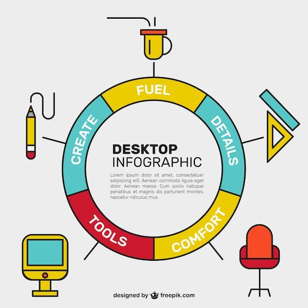 Download Vector Colorful Desktop Pie Chart Vectorpicker