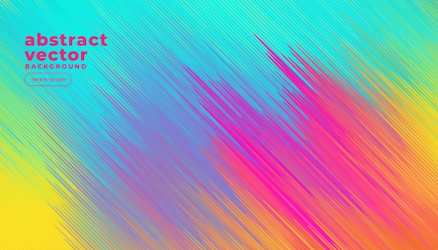 Colorful diagonal lines abstract background Free Vector