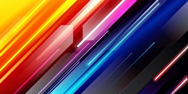 Sfondo colorato luce velocità diagonale Vettore gratuito