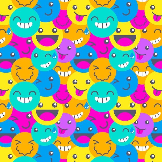 Шаблон смайликов красочные разные улыбки Бесплатные векторы
