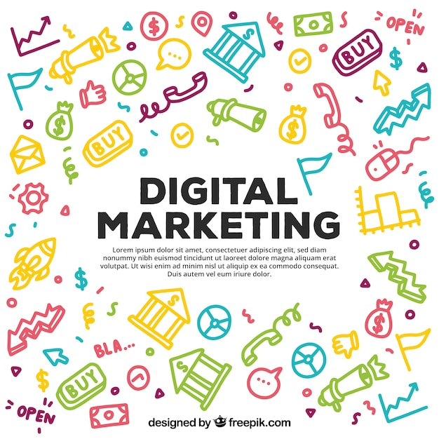 Colorful digital marketing pattern