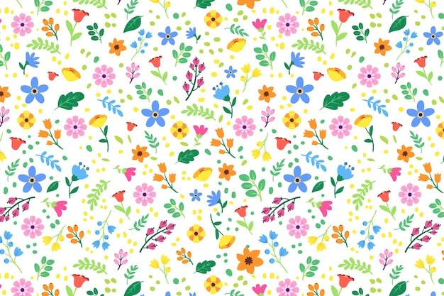 Красочный ditsy цветочный принт фон Premium векторы