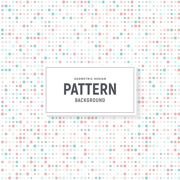 Colorful dots pattern background Premium Vector