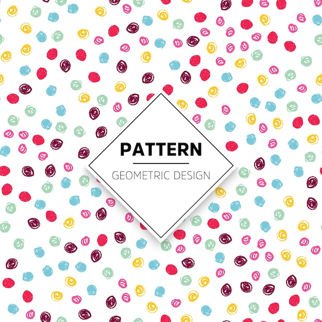 Colorful dots pattern Free Vector