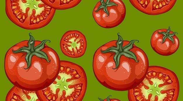 Красочный рисунок овощи шаблон Бесплатные векторы
